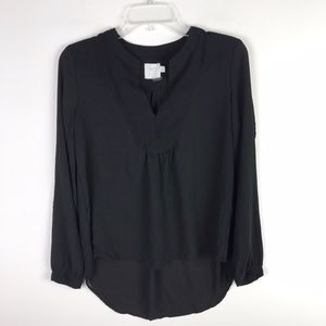 HD in Paris Anthropologie Vneck Hi Low Blouse #38